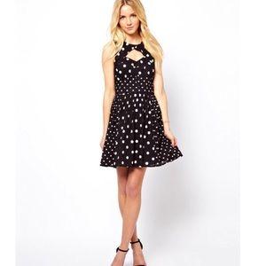 ASOS Black Polka Dot Skater Dress